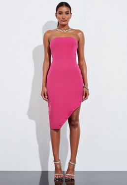 Асимметричное мини-платье с принтом Peace + Love Pink Bandeau