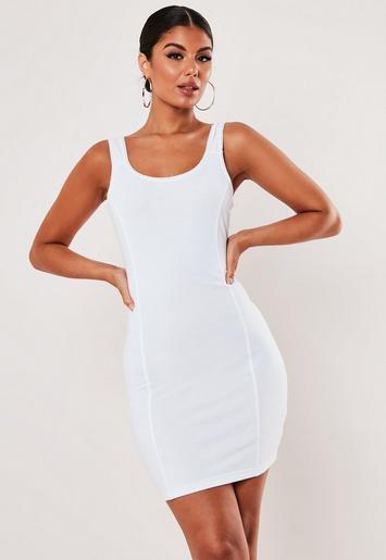White Picot Trim Cami Bodycon Mini Dress by Missguided
