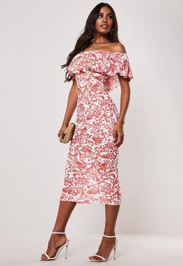 0bb055000028 Bardot Dresses | Off The Shoulder Dresses - Missguided Australia