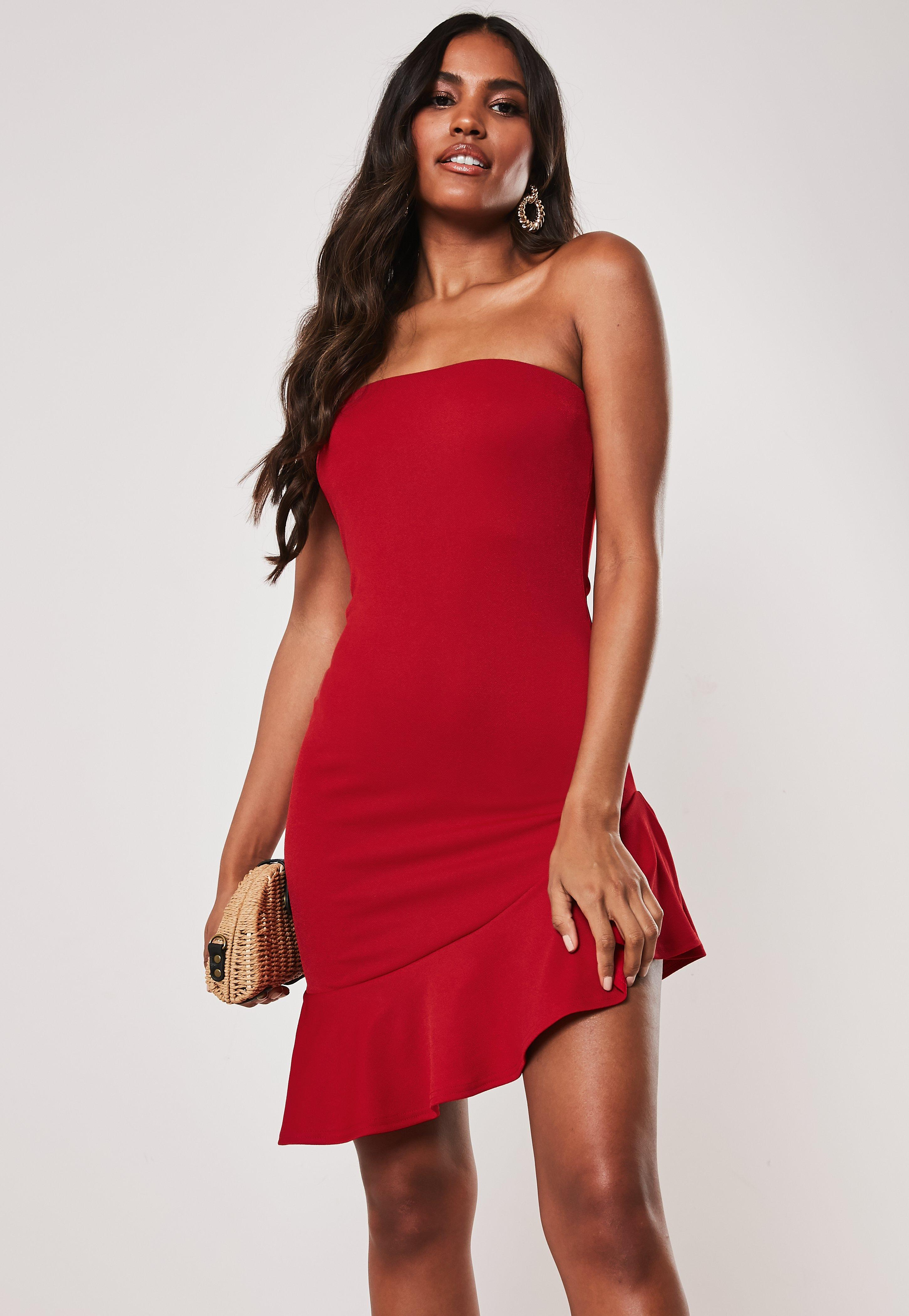 52688d2f6 Strapless Dresses - Bandeau & Tube Top Dresses | Missguided