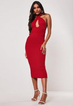 5ff6ddfcc4b0 Deep V Neck Dress - Plunging Neckline Dresses | Missguided