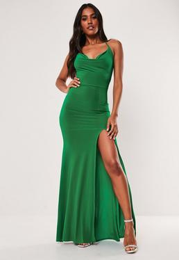 Christmas Green Dress.Sofia Richie X Missguided Black Slinky Ruched Racer Back Midi Dress