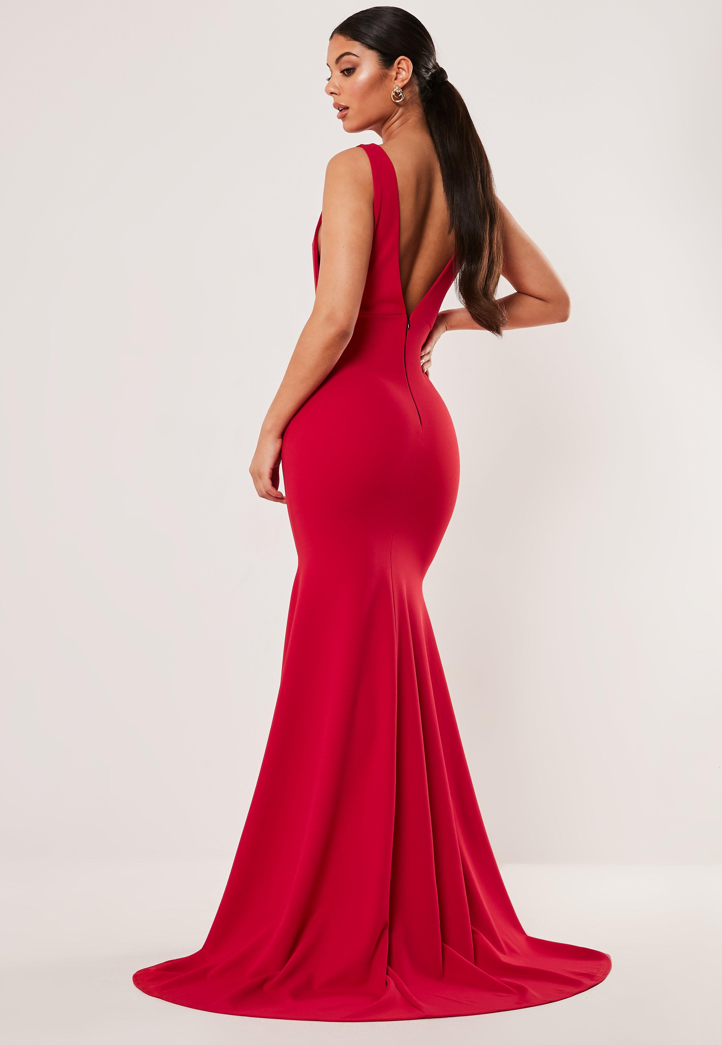 Red Low Back Maxi Dress by Missguided