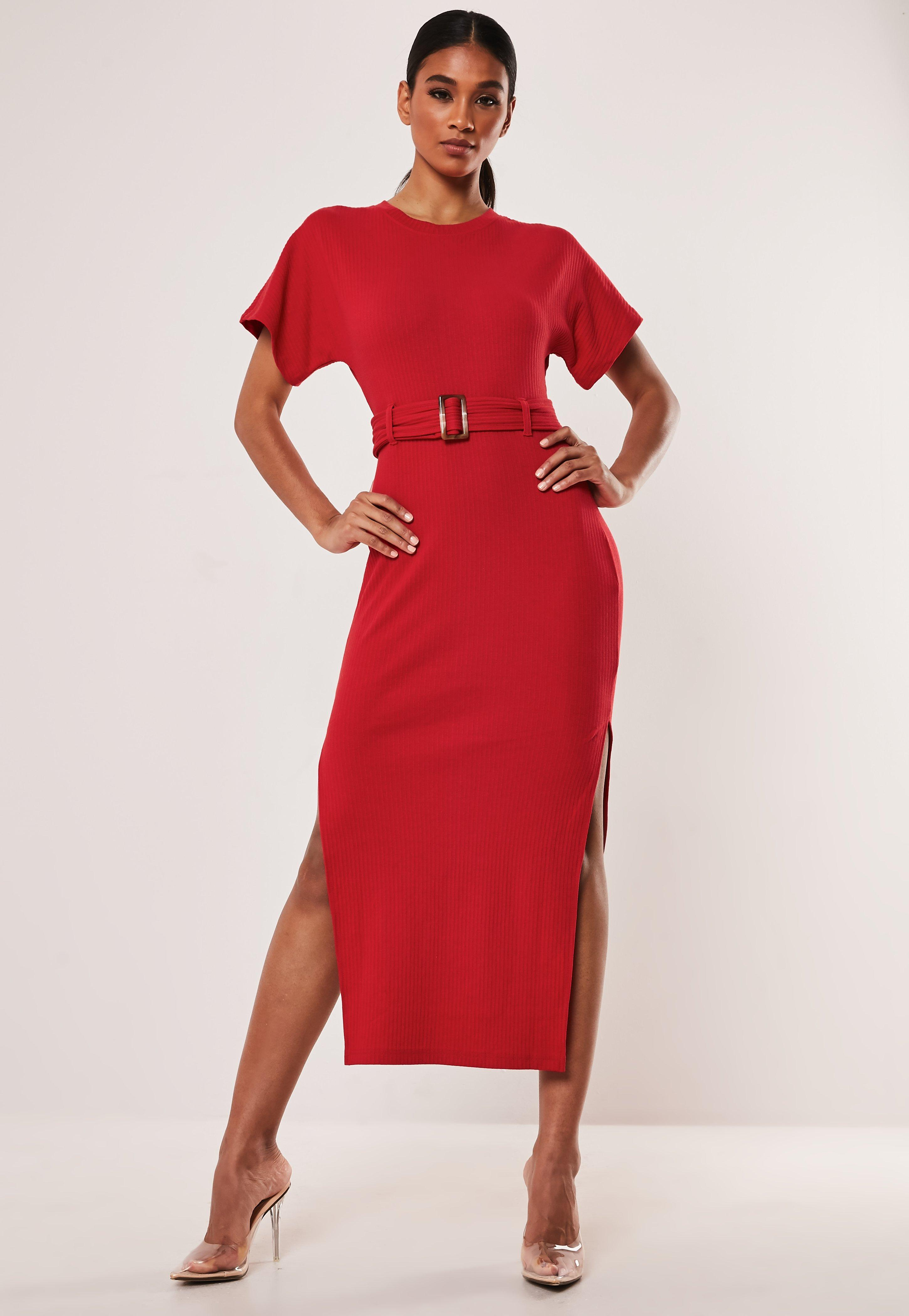 81b47fe0c510 Midi Dresses | Knee Length Dresses Online- Missguided Ireland