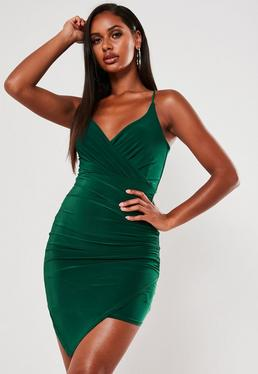 Bodycon Dresses Nude Grey Amp Green Bodycon Missguided