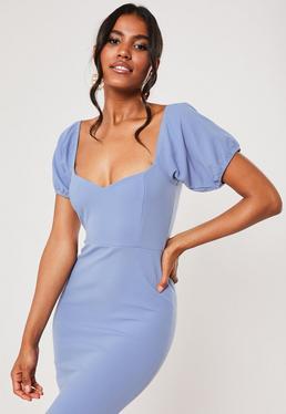 Синее платье для подружек невесты