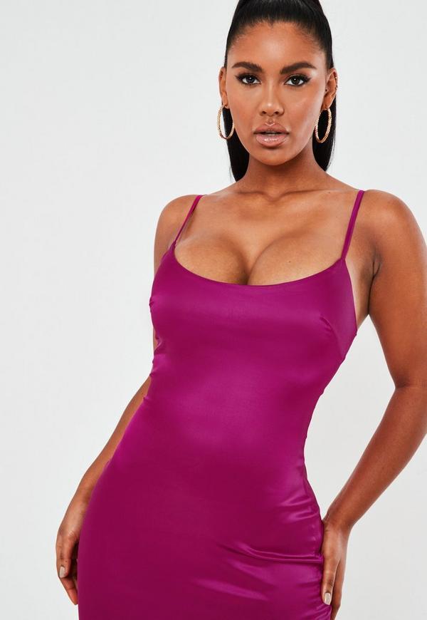 Fiber rosegal purple satin bodycon mini dress stores online company