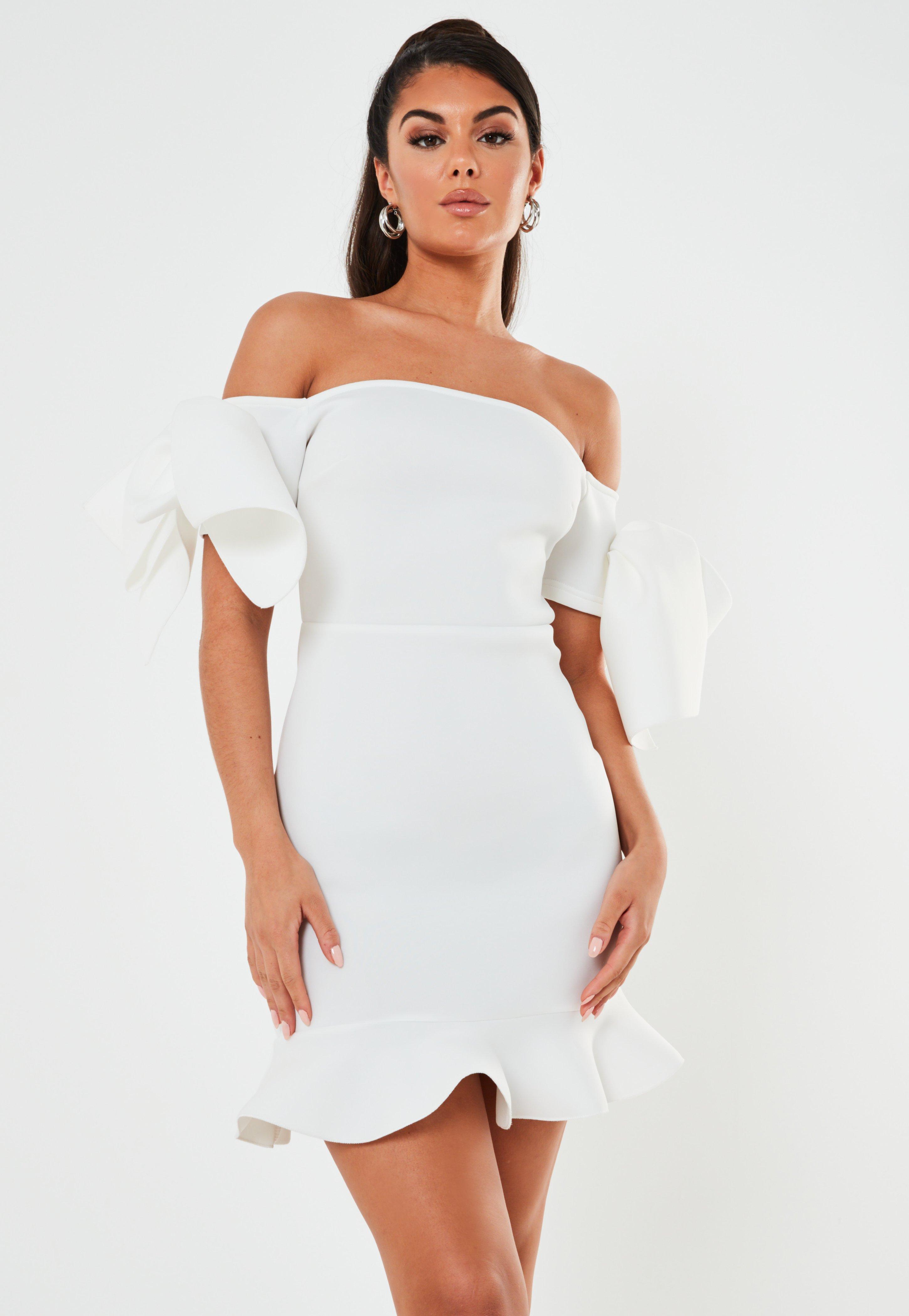UK Women Striped Off Shoulder Frill Ruffle Belted Bardot Beach Dress Size 6-14