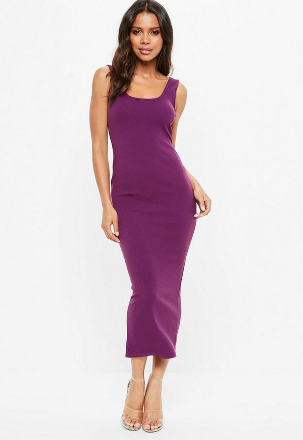 Purple Ankle Grazer Maxi Dress by Missguided