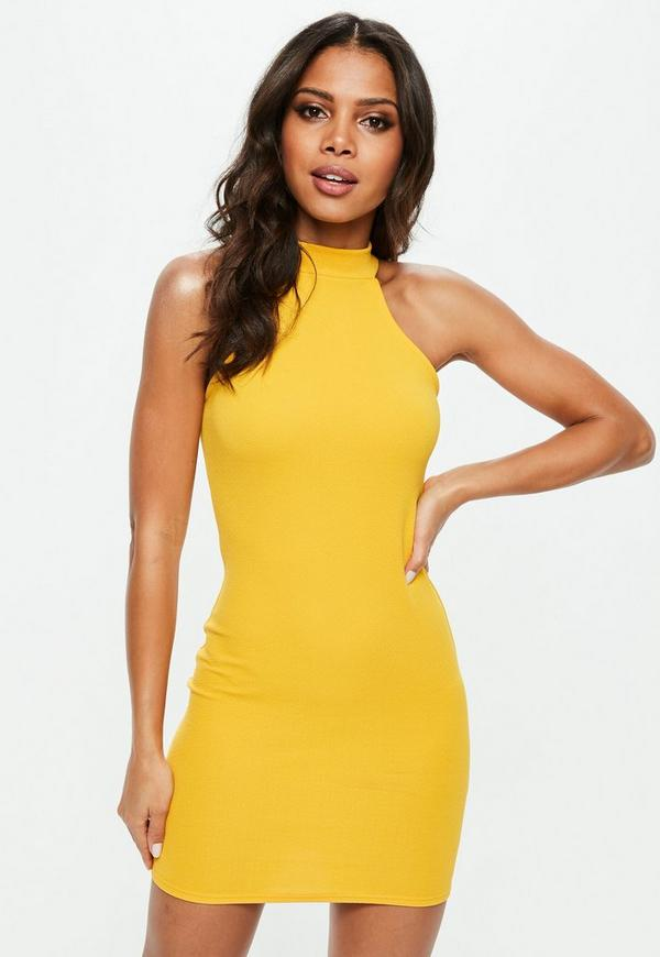 Wear does it mean yellow what bodycon dress and white