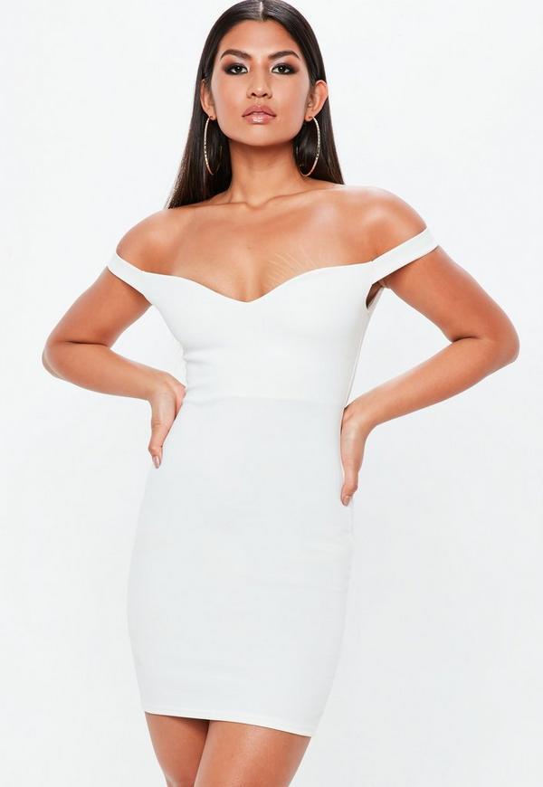 29f4db2d1675 ... White Sweetheart Bardot Dress. Previous Next