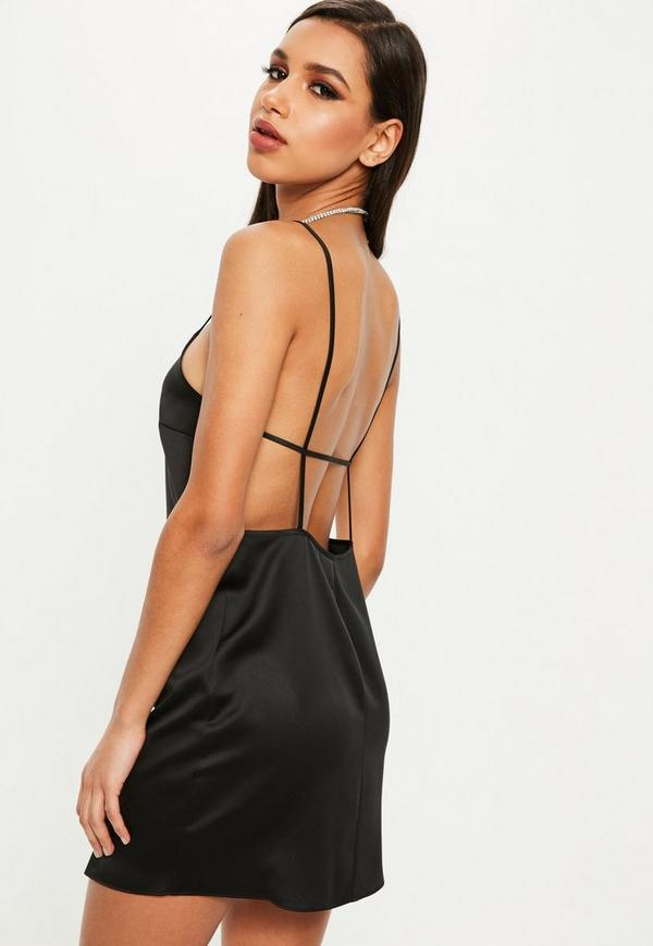 Petite robe noire en satin
