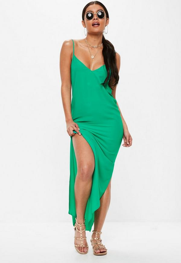 Green Cami Strap Maxi Dress by Missguided