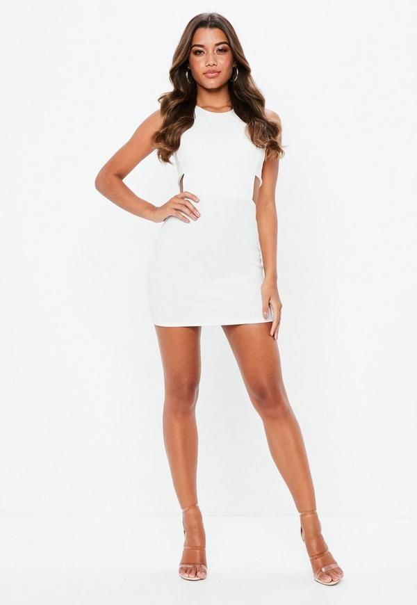 Cutouts iconic bodycon with white cutout sides dress what are they