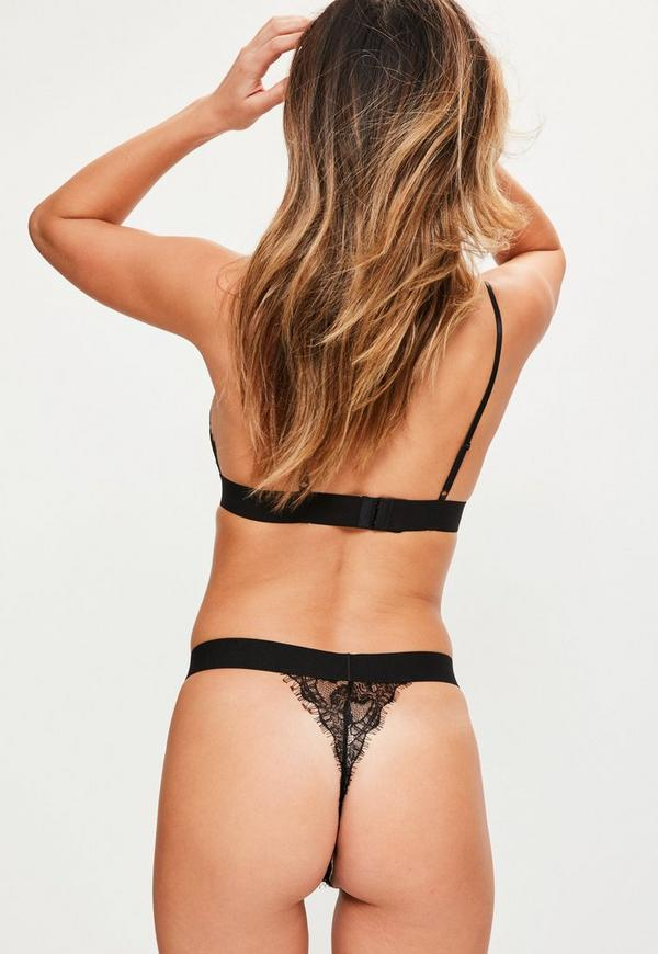 g Black string lace