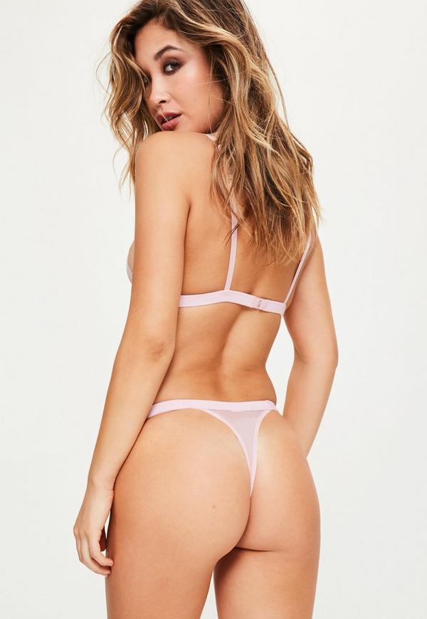 Pink Lace Thong