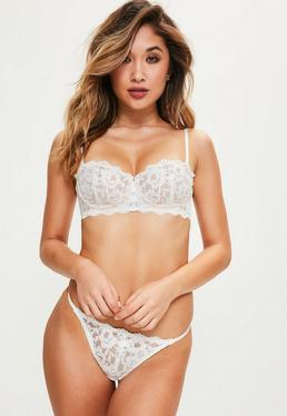 White Scallop Lace Underwired Bra