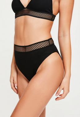 Knickers With Sporty Hem Black With Black Trim