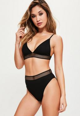 Triangle Bra With Sporty Hem Black With Black Trim