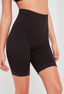 Shorts faja push up muy suave con diseño muy reductor negros