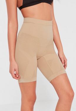 Extrem geschmeidige Shapewear-Shorts in Nude