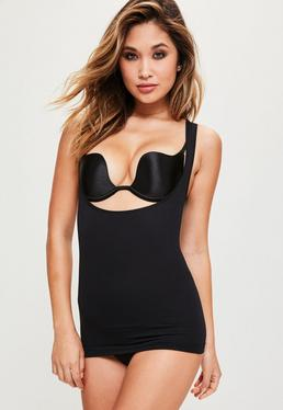 Black High Control Super Smoothing Push Up Shapewear Cami