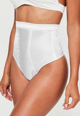 White Shiny High Control Knickers
