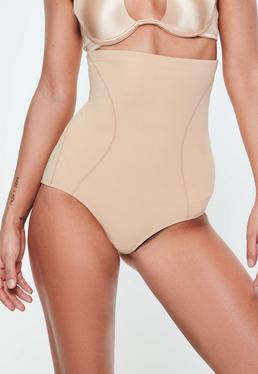 Figurformende High-Waist-Hose in Nude