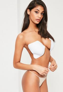White Strapless Illusion Invisible Bra