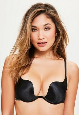 Black Plunge Underwired Bra