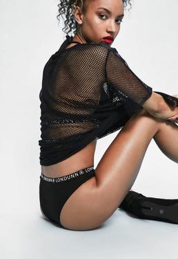Londunn + Missguided Black Logo Panties
