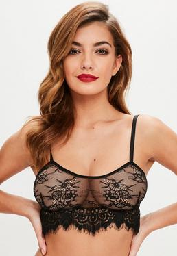 Black Tie Detail Soft Bra