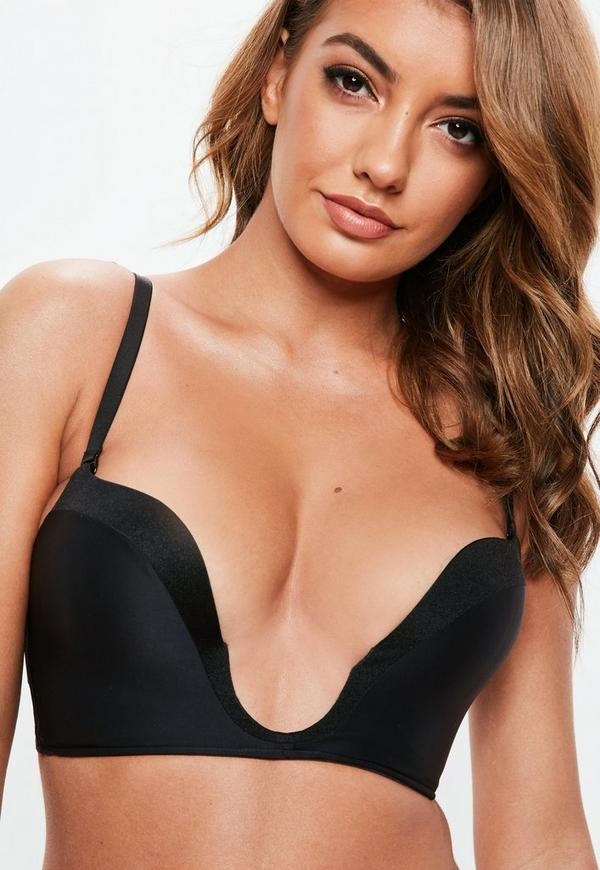 76e88f62d5dfc Wonderbra Black Ultimate Plunge Bra. Previous Next