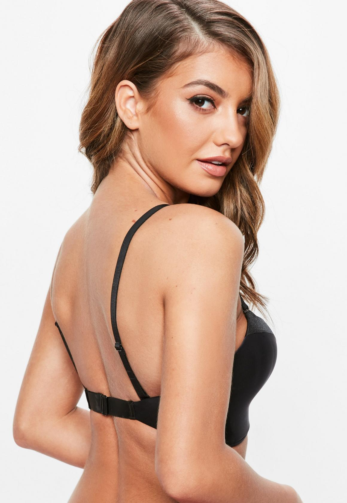 Wonderbra Black Ultimate Plunge Bra, Black