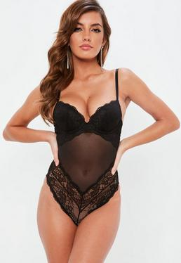Black Lace Push Up Bodysuit