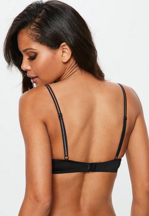 Black Non Padded Underwire T Shirt Bra by Missguided