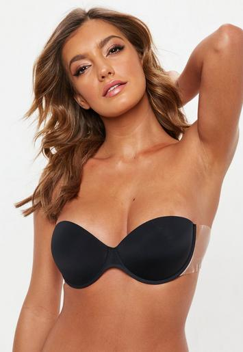 d64a035e5f7 Black Winged Super Push Up Stick On Bra