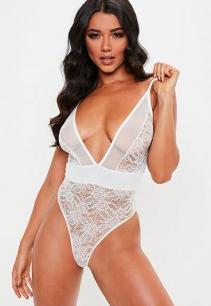 23e0fc64ba £10.00. white lace and mesh ...