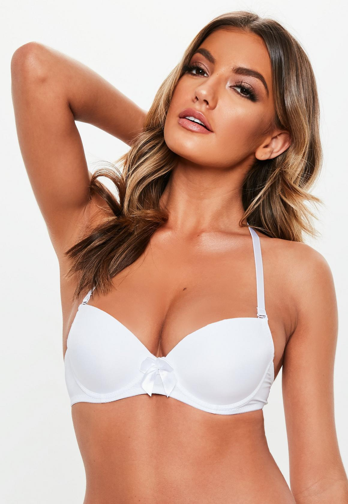 quality first customers first fine quality White Multiway Bra
