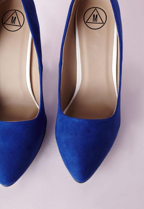 Block Heel Pumps Cobalt Blue Missguided