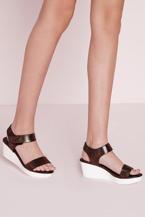 Sport Lux Wedge Sandal Black Snake