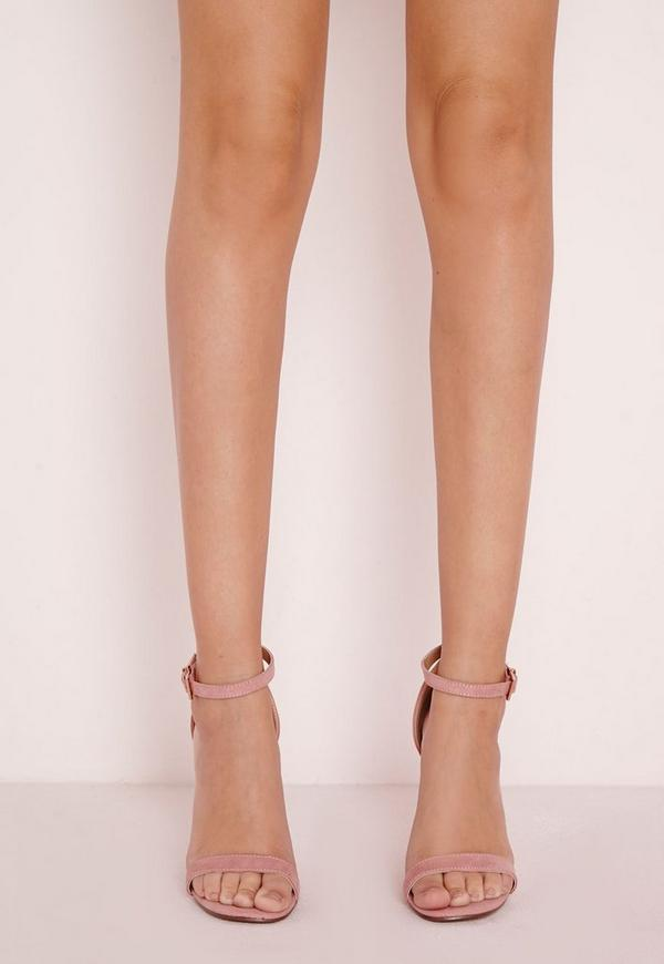 0ba0663f9aae69 Barely There Strappy Heeled Sandals Rose
