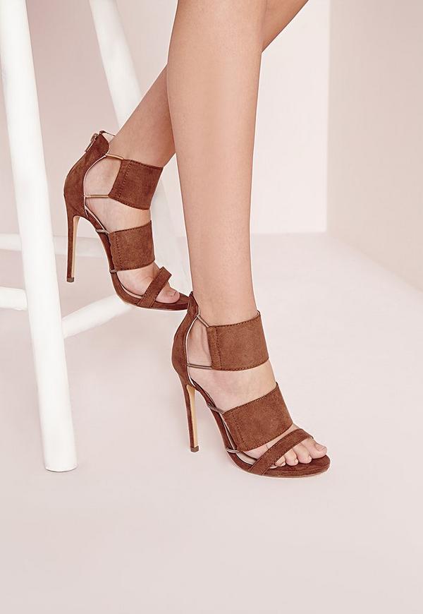 Elastic Detail Sandal Tan