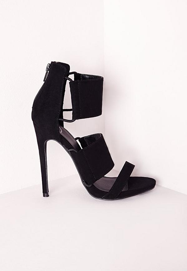Elastic Detail Sandal Black