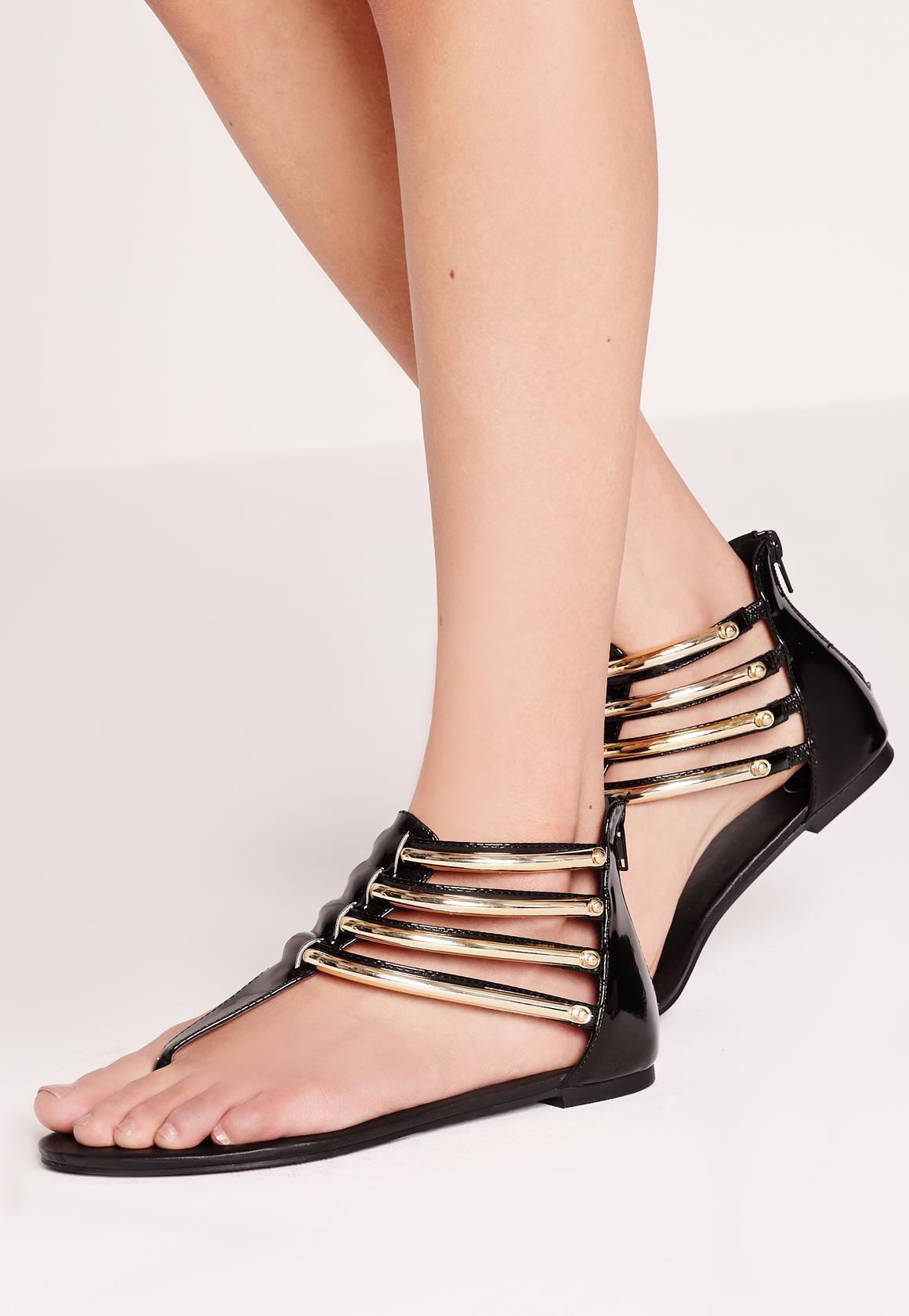 Black sandals gold bar - Previous Next