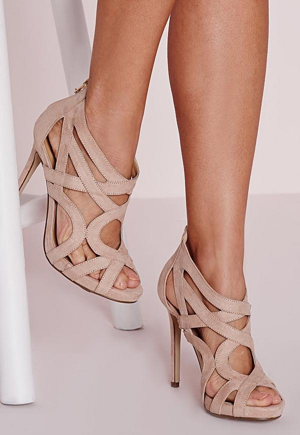 Strappy Heeled Gladiators Nude