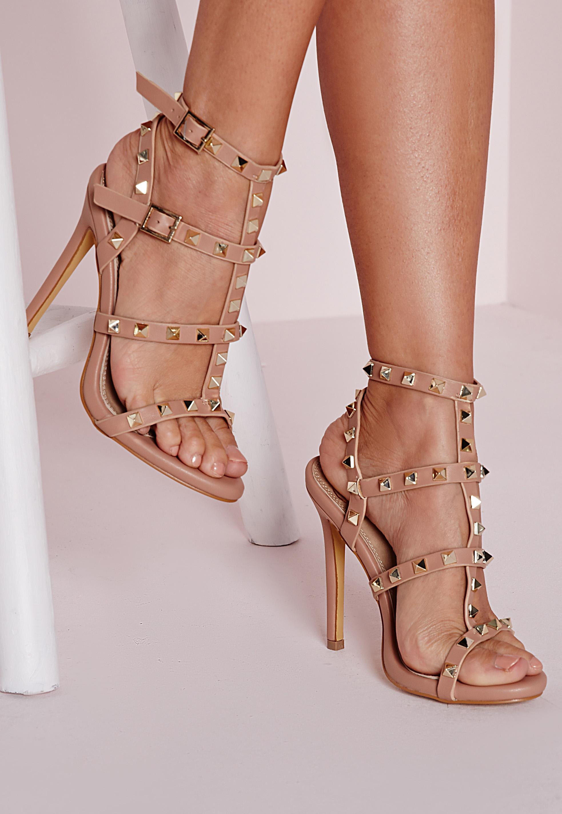 Wedding Blush Heels studded heeled gladiator sandals blush shoes high heels previous next