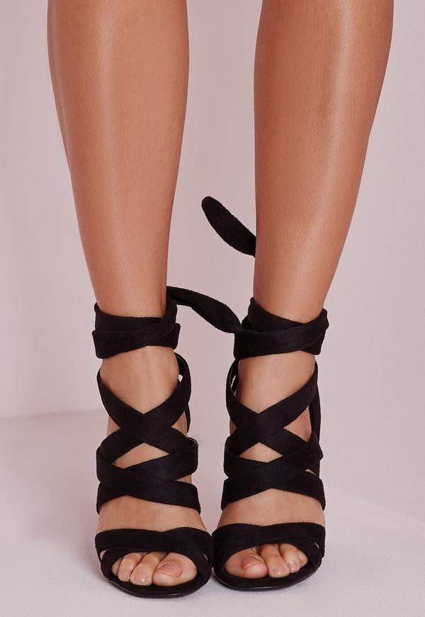 Lace Up Gladiator Heels Black | Missguided