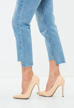 Nude Pointed Toe Court Shoes