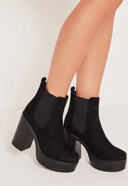 90's Platform Boots Black